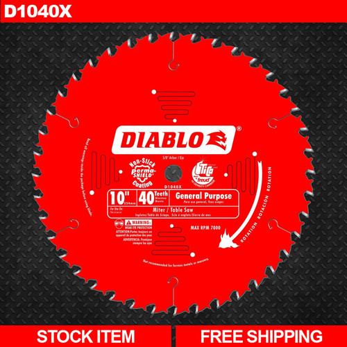 Freud Diablo D1040X 10 in. x 40 Tooth General Purpose Saw Blade