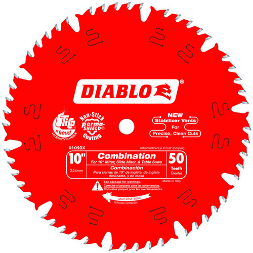 Freud Diablo D1050X 10 in. x 50-Teeth Combination Saw Blade