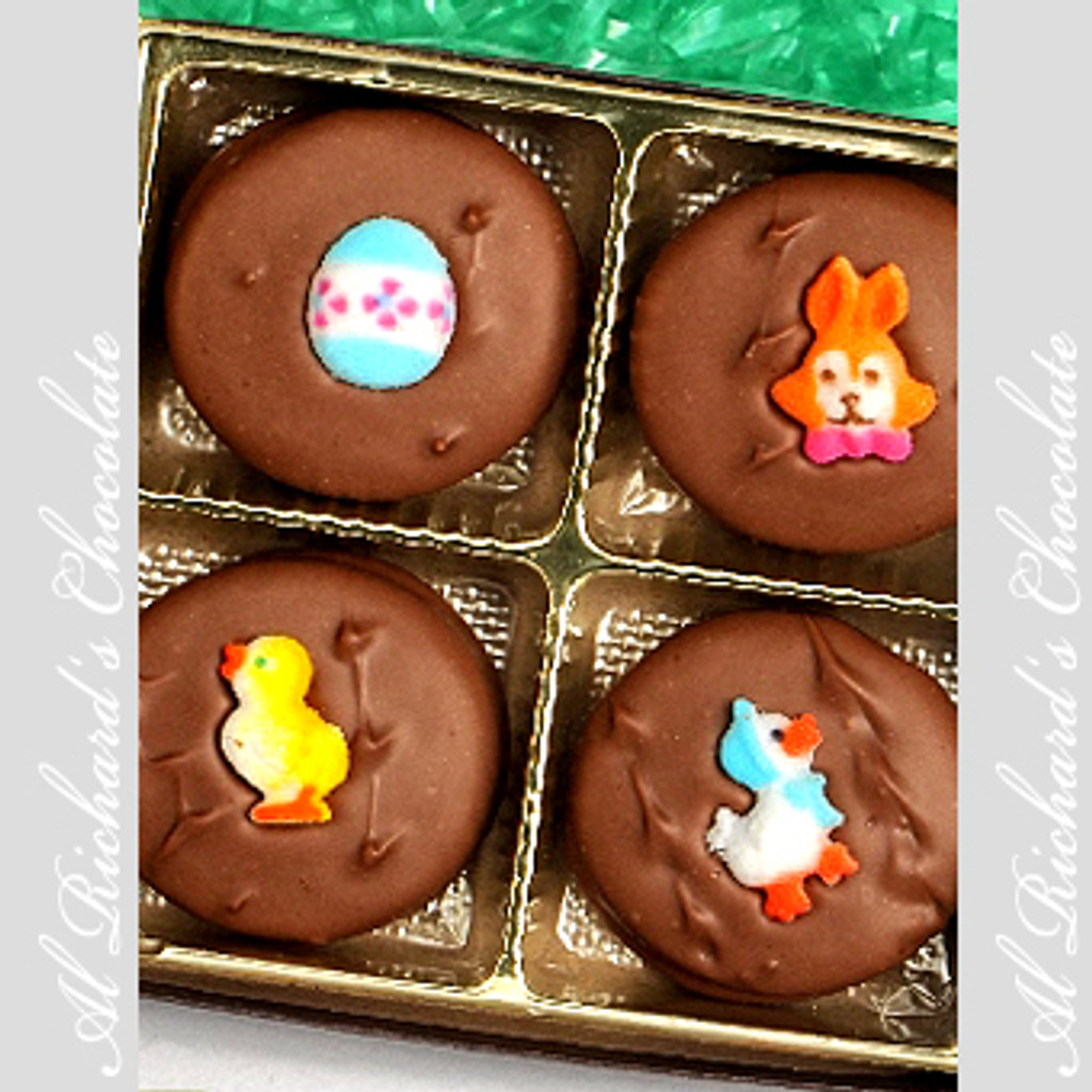 4 Chocolate Covered Easter Oreos
