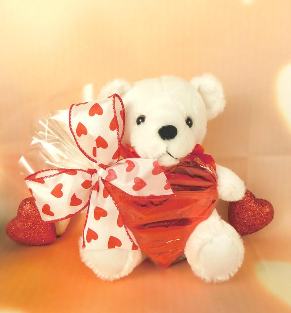 Teddy with Foiled Heart