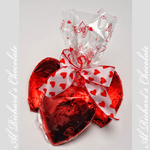 3 Large Foiled Hearts
