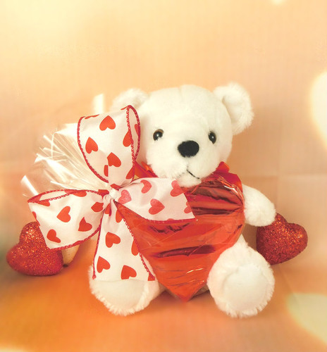 Teddy with Foiled Heart