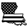Subdued American Flag on Louisiana Outline Reflective Decal