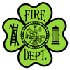 Fire Dept. Maltese Clover Decal
