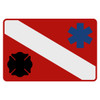 Dive Flag - Maltese Cross & Star of Life Decal