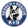 Round Search & Rescue K-9 Decal