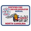 North Carolina Certified Fire Driver/Operator Aerial Decal