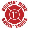 Bustin' Mine Savin' Yours (1 Ass 2 Risk) Maltese Cross Decal