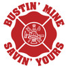 Bustin' Mine Savin' Yours (Scramble) Maltese Cross Decal