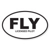 FLY (Licensed Pilot) Oval Decal