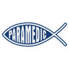 Paramedic Christian Fish Decal