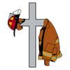 Coat, Helmet & Cross Decal