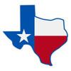 Texas Flag on Texas Outline Decal