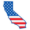 US Flag on California Outline Decal
