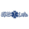 EMS Life with Star of Life Reflective Window Banner Decal