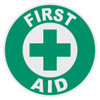 Round First Aid Decal