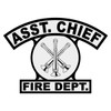 Asst. Chief Shield Rocker Crest Frontal