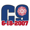 Charleston 9 Helmet Decal
