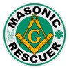 Round Masonic Rescuer Decal