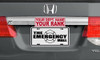 "4""x10"" Custom Half Tag Auto License Plate"