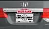"4""x10"" Custom Classic Half Tag Auto License Plate"