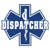 Dispatcher on Star of Life Decal