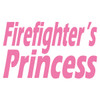 Firefighter's Princess Text Decal
