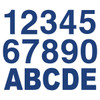 Dark Blue Reflective Letters & Numbers