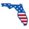 US Flag on Florida Outline Decal
