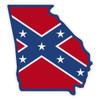 Conferdate Flag on Georgia Outline Decal