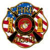 Marine Fire Rescue Maltese Cross Decal