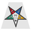 Order of Eastern Star Helmet Tetra Decal