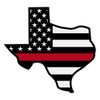 Black American Flag with Red Line Texas Decal