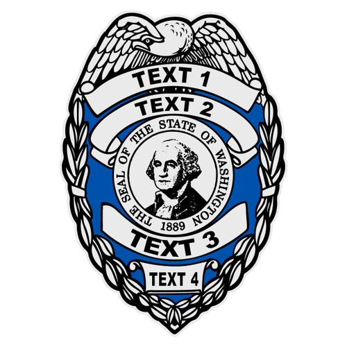 Custom Washington Badge Decal