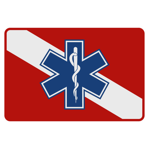 Dive Flag - Star of Life Decal