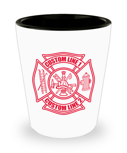 Custom Red Maltese Cross Shot Glass
