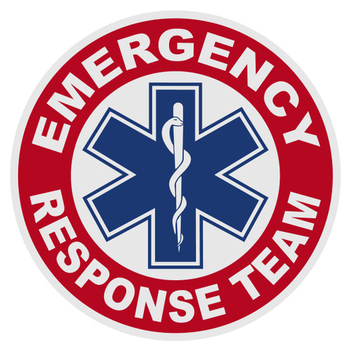 Round Emergency Response Team with Star of Life