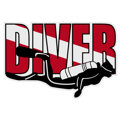 Diver Decal