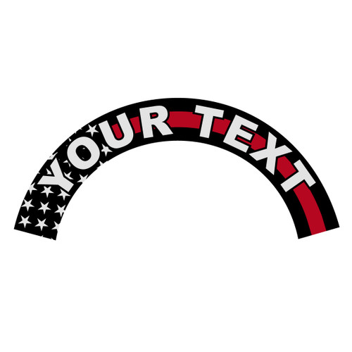 Custom Helmet Crescent with Black American Flag Redline Background