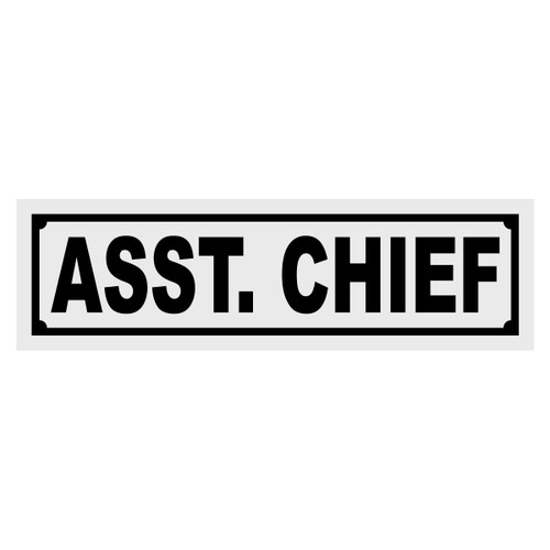 Asst Chief Title Decal