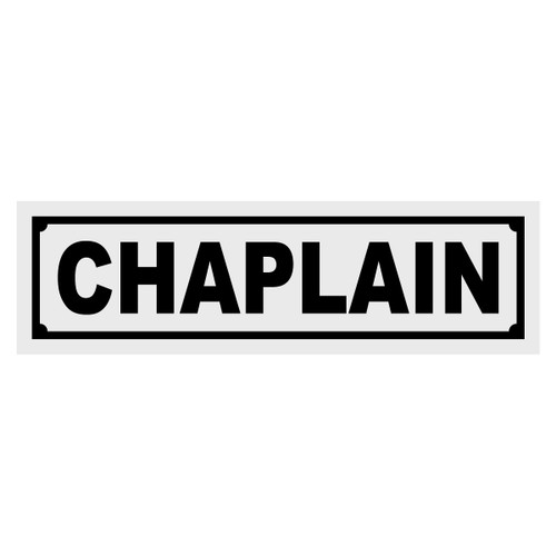 Chaplain Title Decal