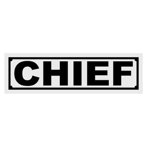 Chief Title Decal