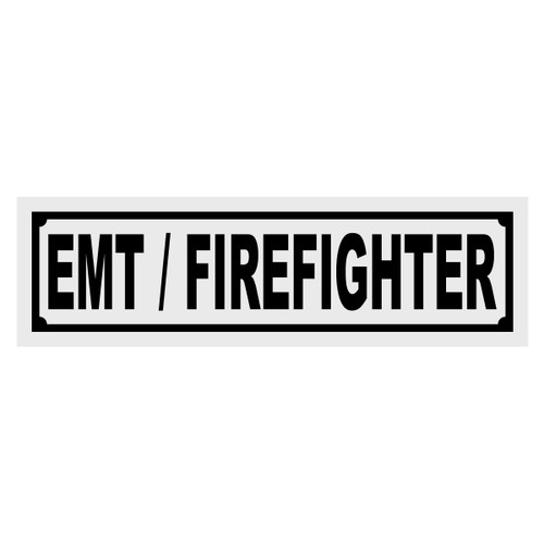 EMT/Firefighter Title Decal