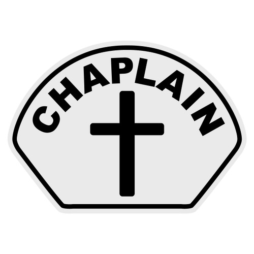 Chaplain with Cross Helmet Front Decal