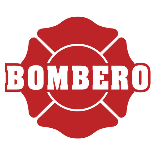 Bombero on Maltese Cross Decal