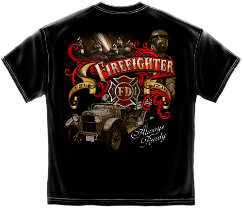 Antique Firefighter T-Shirt (THD006)