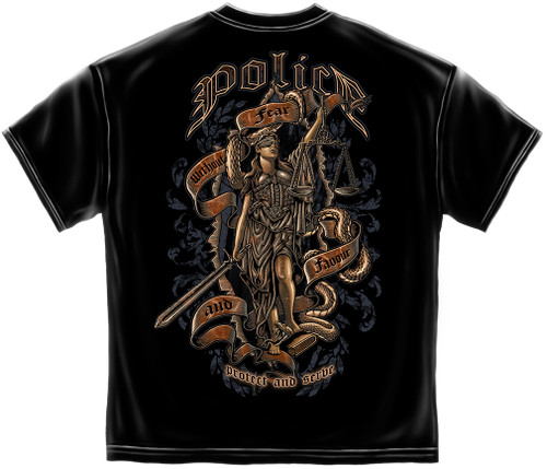 Police Scale of Justice T-Shirt (FF2120)
