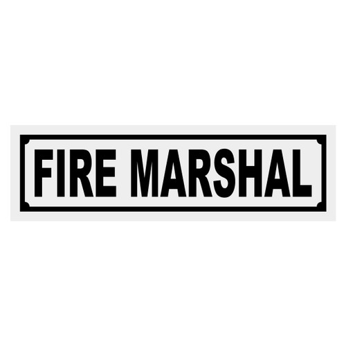 Fire Marshal Title Decal