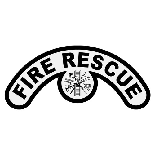 Fire Rescue with Scramble Extended Helmet Crescent