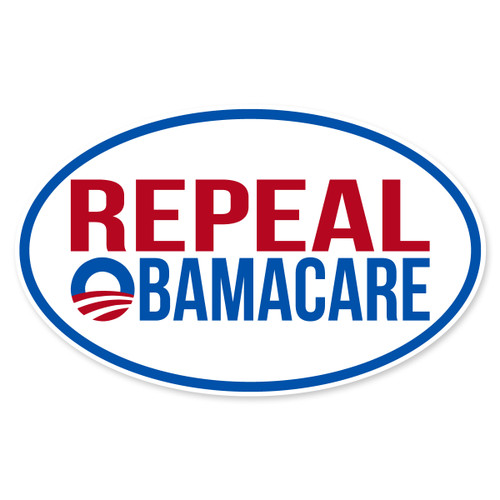 Repeal Obamacare Oval Decal